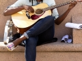 Guitar Player in Pershing Square - Los Angeles 10-17-2013